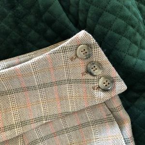 VINTAGE 100% Wool Plaid Cropped Trousers